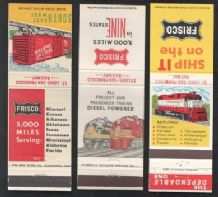 Old railroad railway book match covers #007
